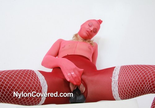 Pity, that Masturbation her cock in pantyhose